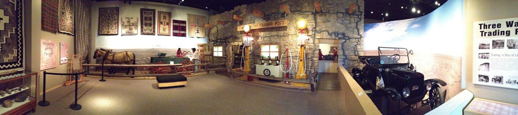 Trading Post exhibit at the Farmington Museum