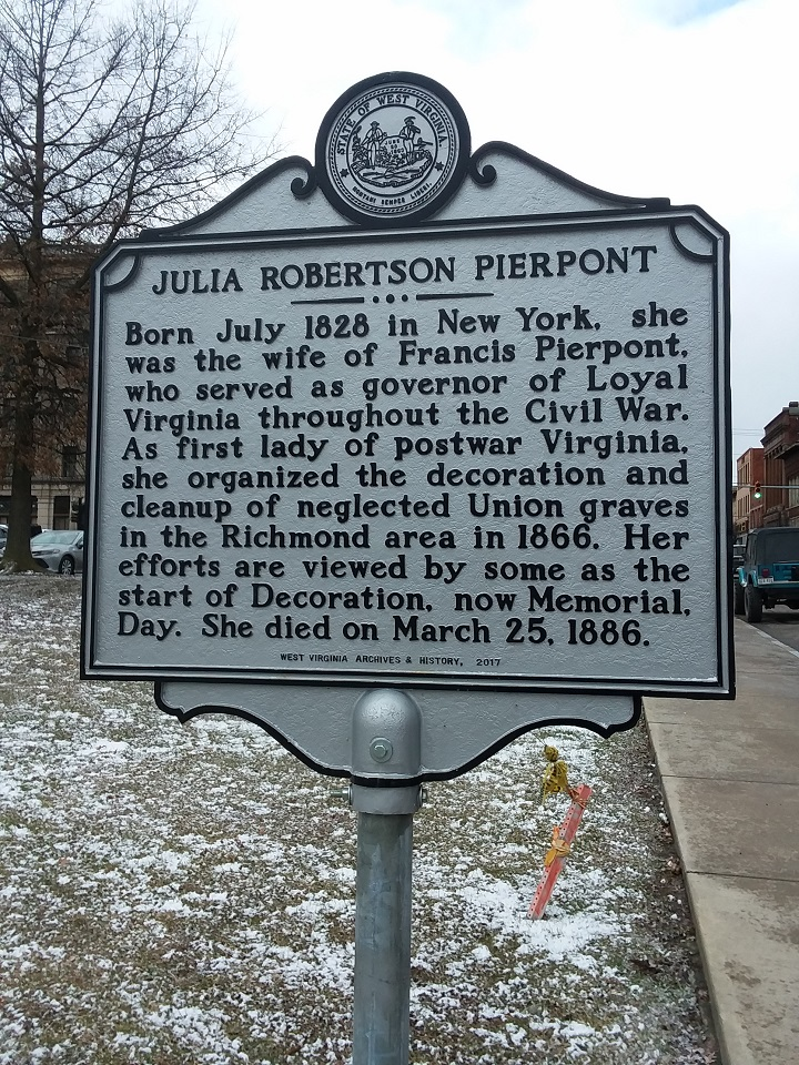 Julia Robertson Pierpont Historical Highway Marker