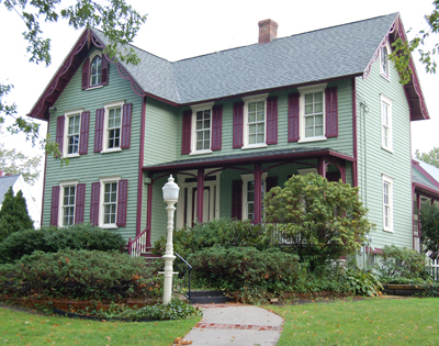 The society operates a house museum and research library within this beautiful Victorian home in Toms River.