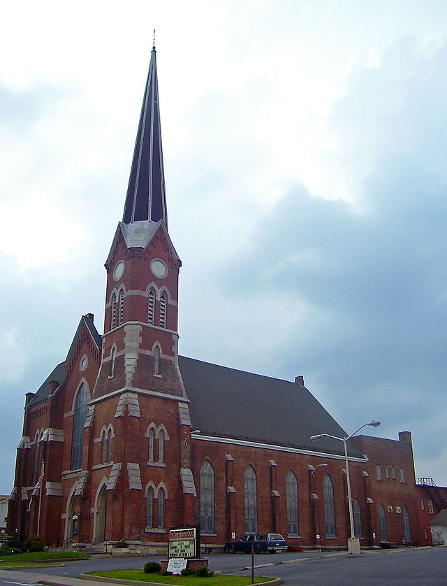 This is the congregation's third church and was completed in 1872