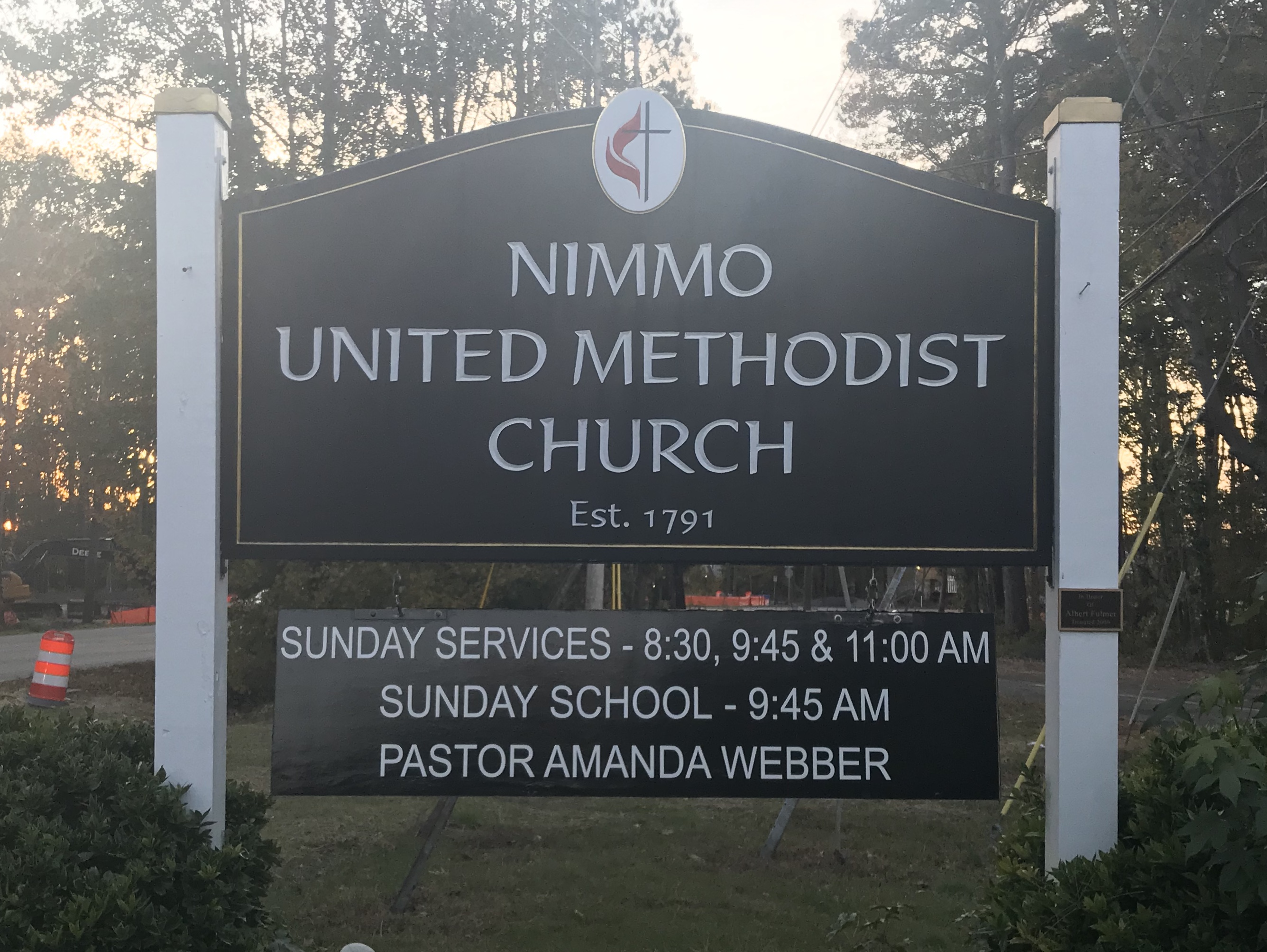 Nimmo Church Sign