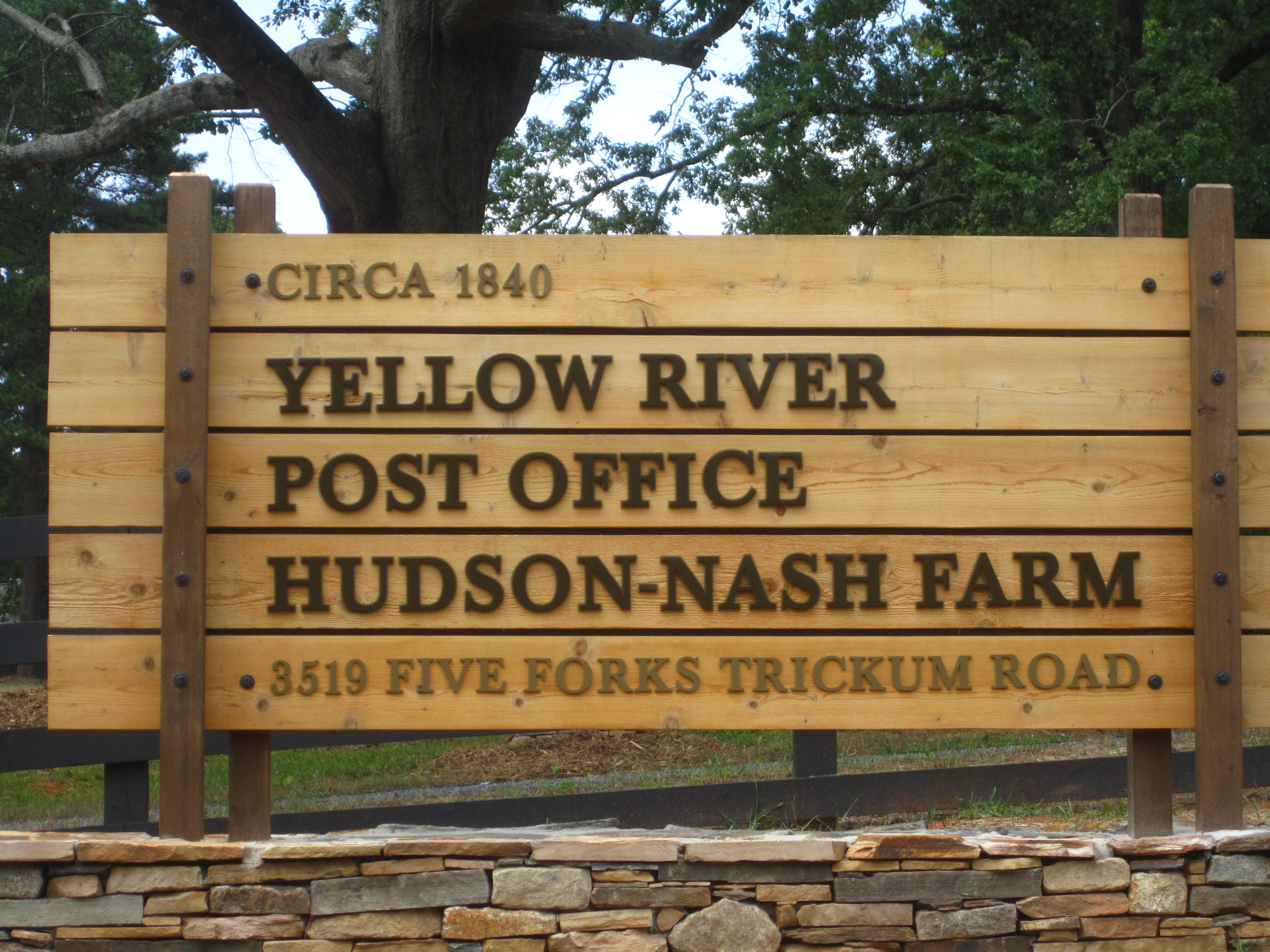 Yellow River Post Office Sign