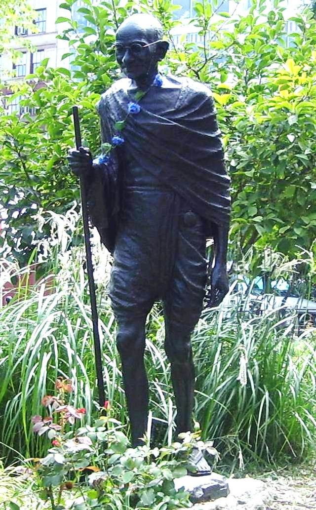 This statue was donated by the Gandhi Memorial International Foundation and dedicated in 1986.
