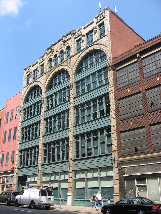 The exterior of the Byrnes and Kiefer Building.