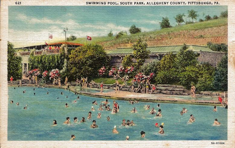 This picture shows the Corrigan Drive pool in 1943. This pool, like many others, were legally open to all races but in practice, African Americans were unwelcome.  IU