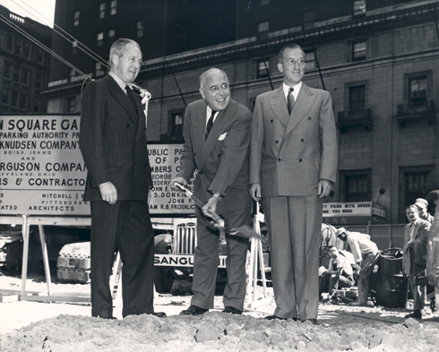 Groundbreaking ceremony, 1953.