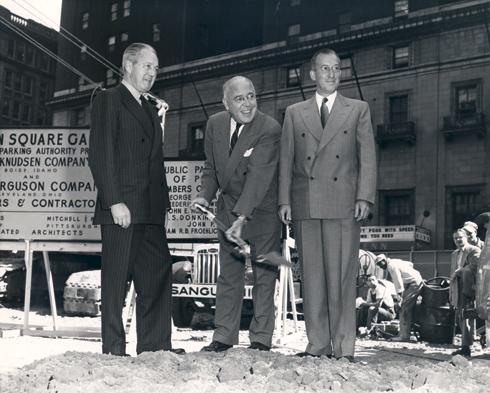 Groundbreaking ceremony, 1953.