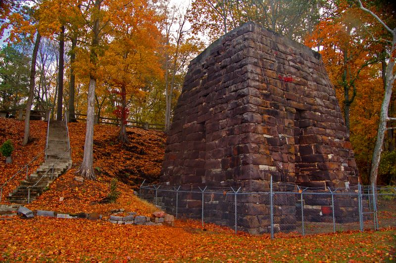 A modern photo of the furnace taken in autumn.