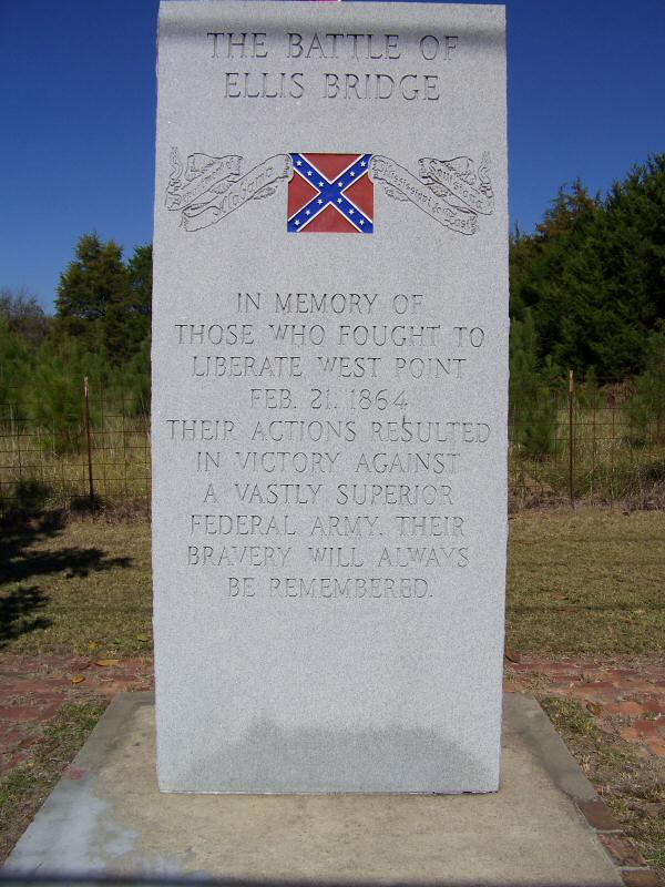 A memorial structure built on the site of the battle, commemorating those who fought at the battle as well as recognizing the success of Nathan Bedford Forrest's unit that subdued a surprisingly overwhelming Union force.