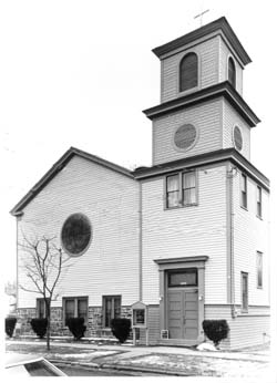 An old photo of the church taken sometime possibly during the 1960s.