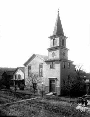 An old photo of the church taken some time possibly in the 1930s.