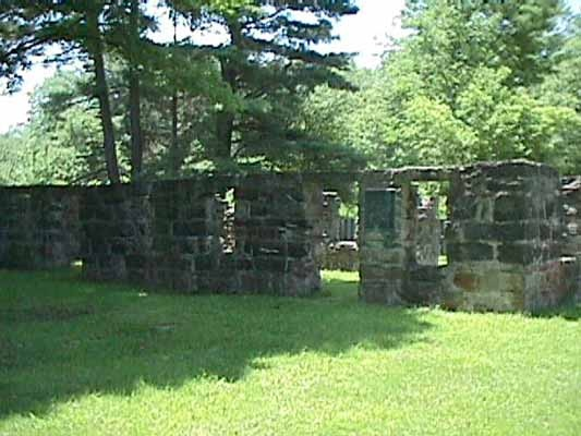 A photo that shows the remains of the tanner on the site of the farm.