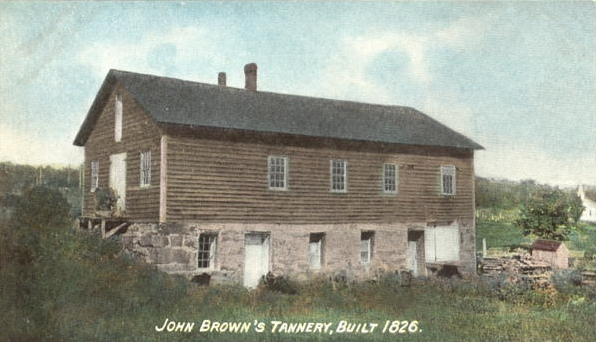 A colored photo of the tannery's original structure.