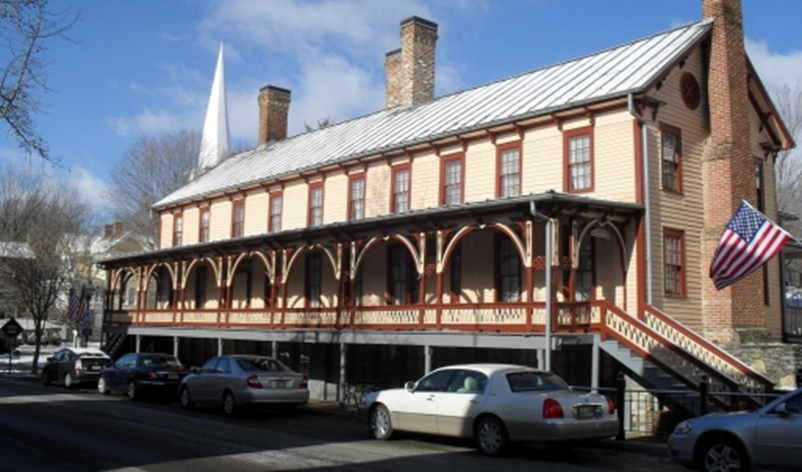 A photo of the Chester Inn Museum, taken present-day.