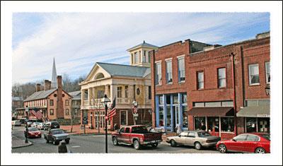 A View of historic downtown Jonesborough.