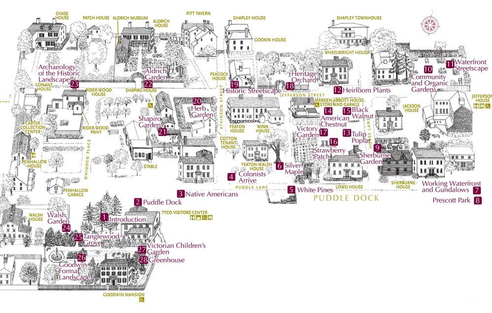 Map of Strawbery Banke Museum