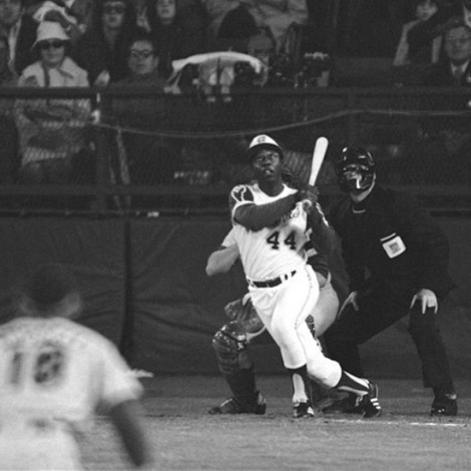 Snapshot of the 715th HR swing, April 8th, 1974
