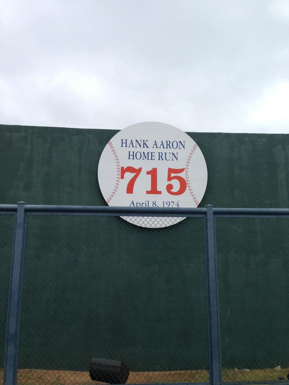 The 715 Home Run Monument