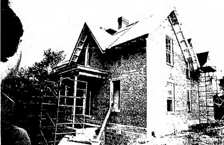 The Chilton House in the middle of renovation in May of 1977.