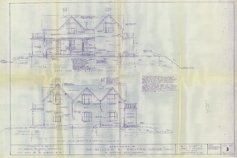 Renovation plans made by architects Paul Vaughn and John R. Shawver of Charleston.