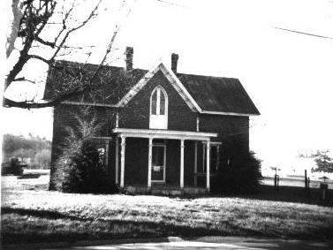 Chilton House in 1970s before being moved.