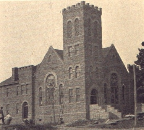 The church shortly after its construction.