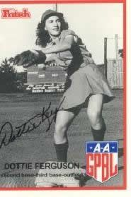 "The ""real"" Dottie (Dorothy Ferguson) baseball card. Played for the Redwings in 1946"