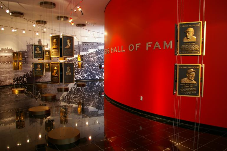 Reds Hall of Fame entrance hall.