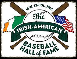 The Irish American Baseball Hall of Fame logo.