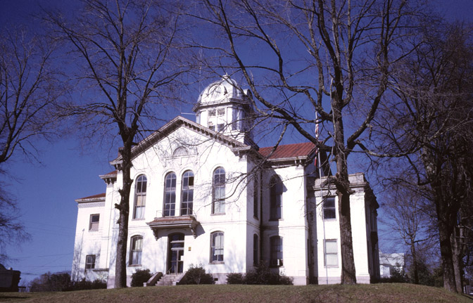 Historic Jackson County Courthouse located in downtown Jefferson, now serves as a welcome center and a community meeting place