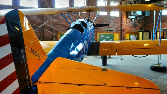 PT-17 Stearman trainer on display