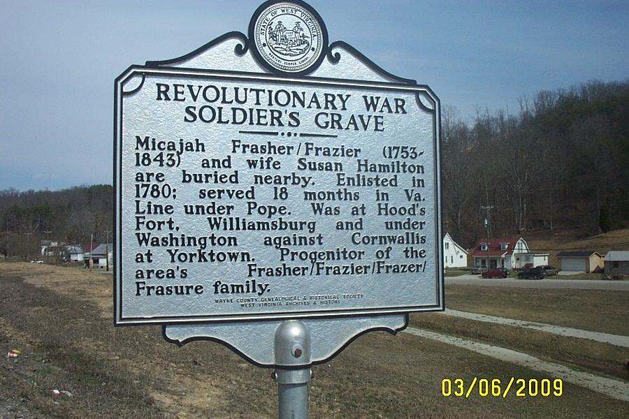 Historical marker near grave.