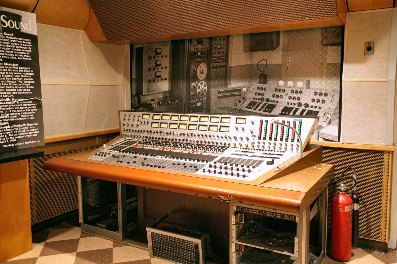 The historic equipment in the mixing booth allows tour guides to provide a more authentic view of the studio and show guests how music was recorded during the 1970s.