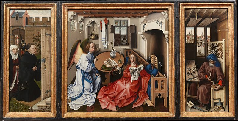 Robert Campin's Mérode Altarpiece, one of The Cloisters most famous painted works.