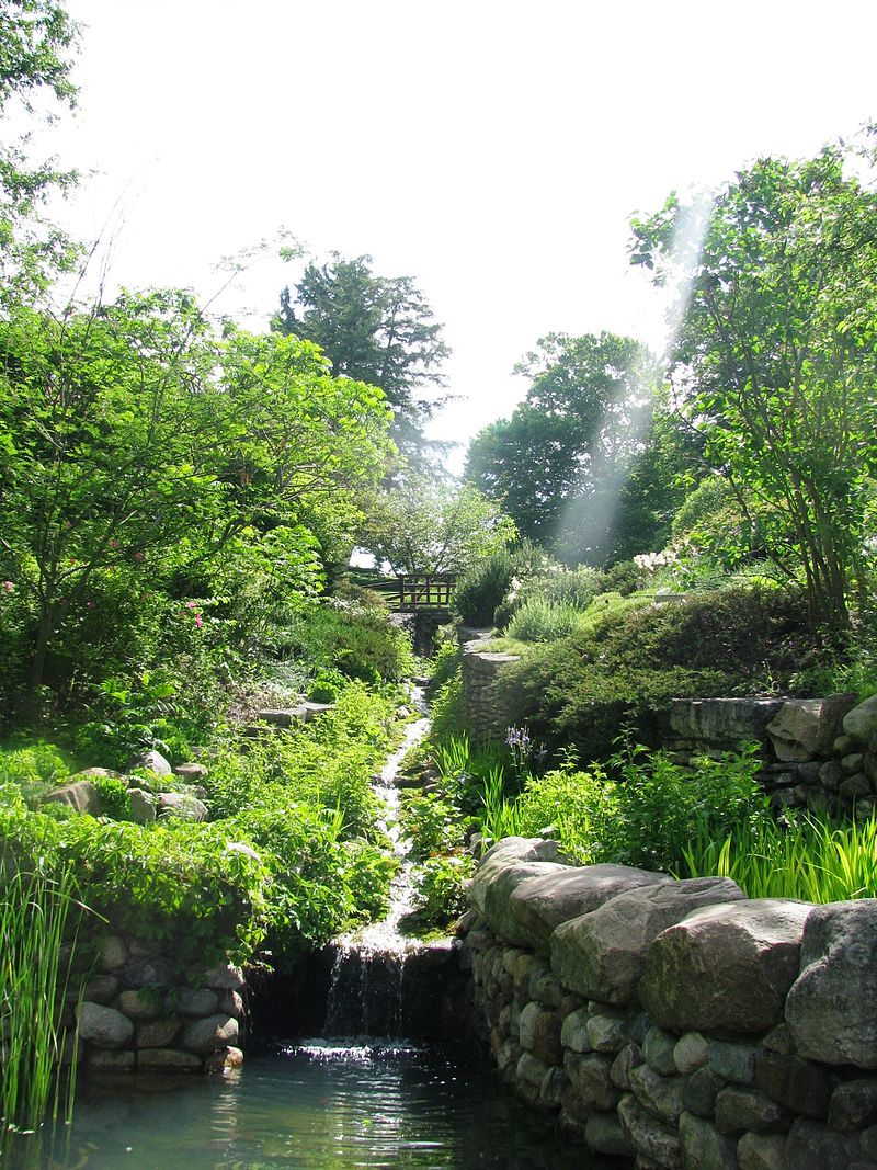 Present day view from the lower portion of the ravine garden designed by Percival Gallagher.