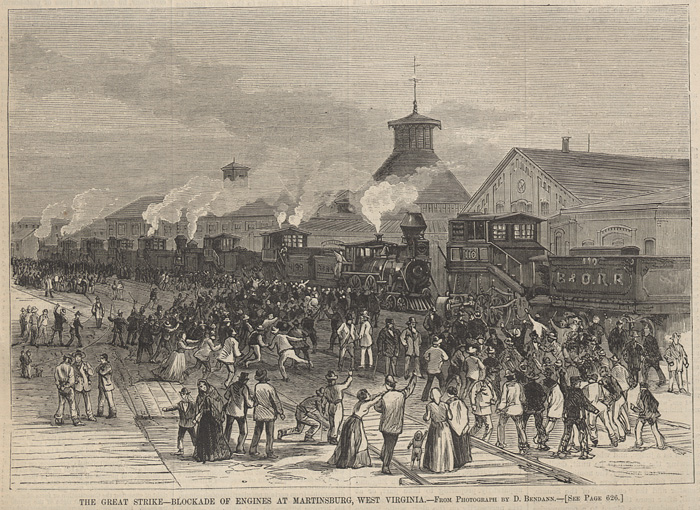Depiction of the strike in Martinsburg, West Virginia.