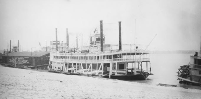 The Belle (originally the Idlewild) in her original home port of Memphis, 1915 (image from the National Register of Historic Places)