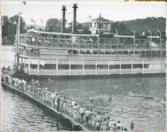 The Idlewild (Belle) in her 1931 capacity as excursion boat for Rose Island and Fontaine Ferry Amusement Parks (image from the National Register of Historic Places)