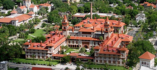 Aerial view of modern day Flagler College