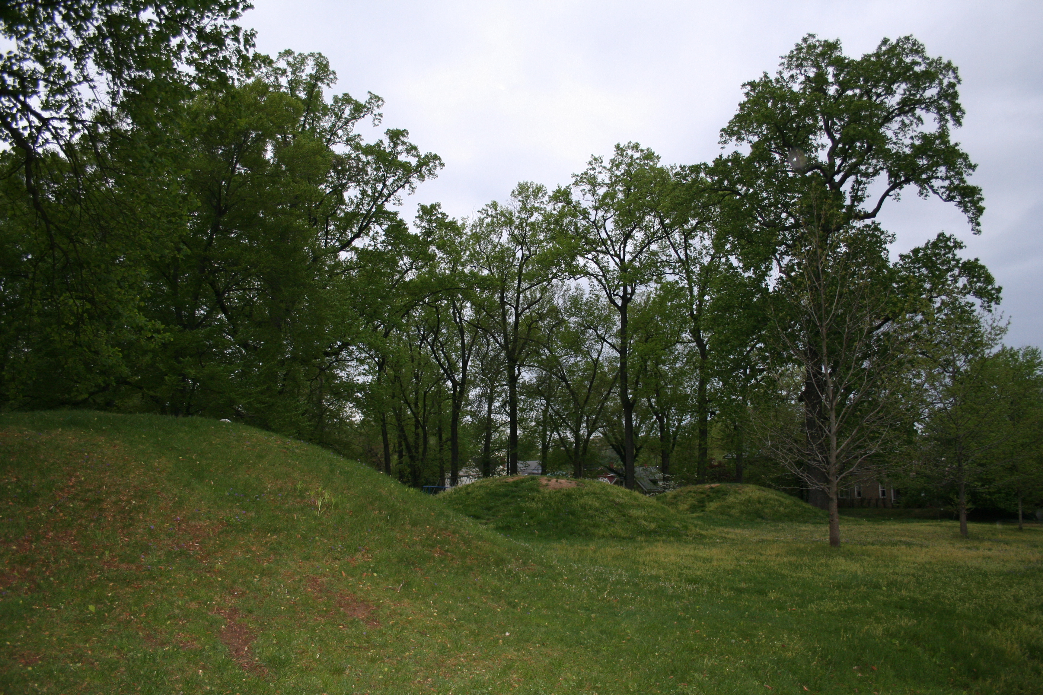 Another photo of the Adena mounds in Ashland Central Park.