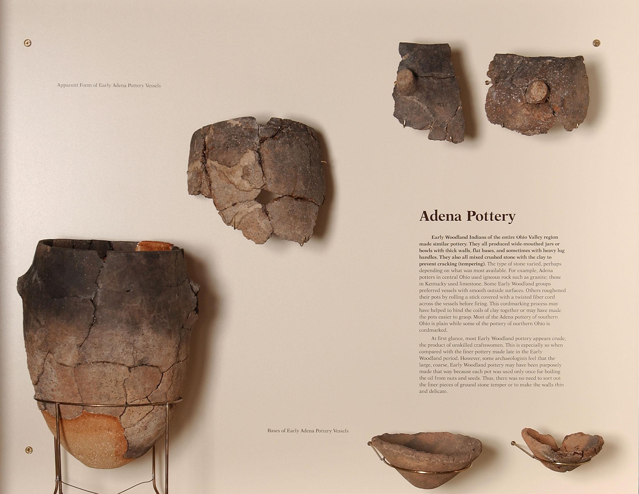 Adena pottery sherds.
