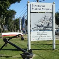 Entrance sign at the Penobscot Marine Museum
