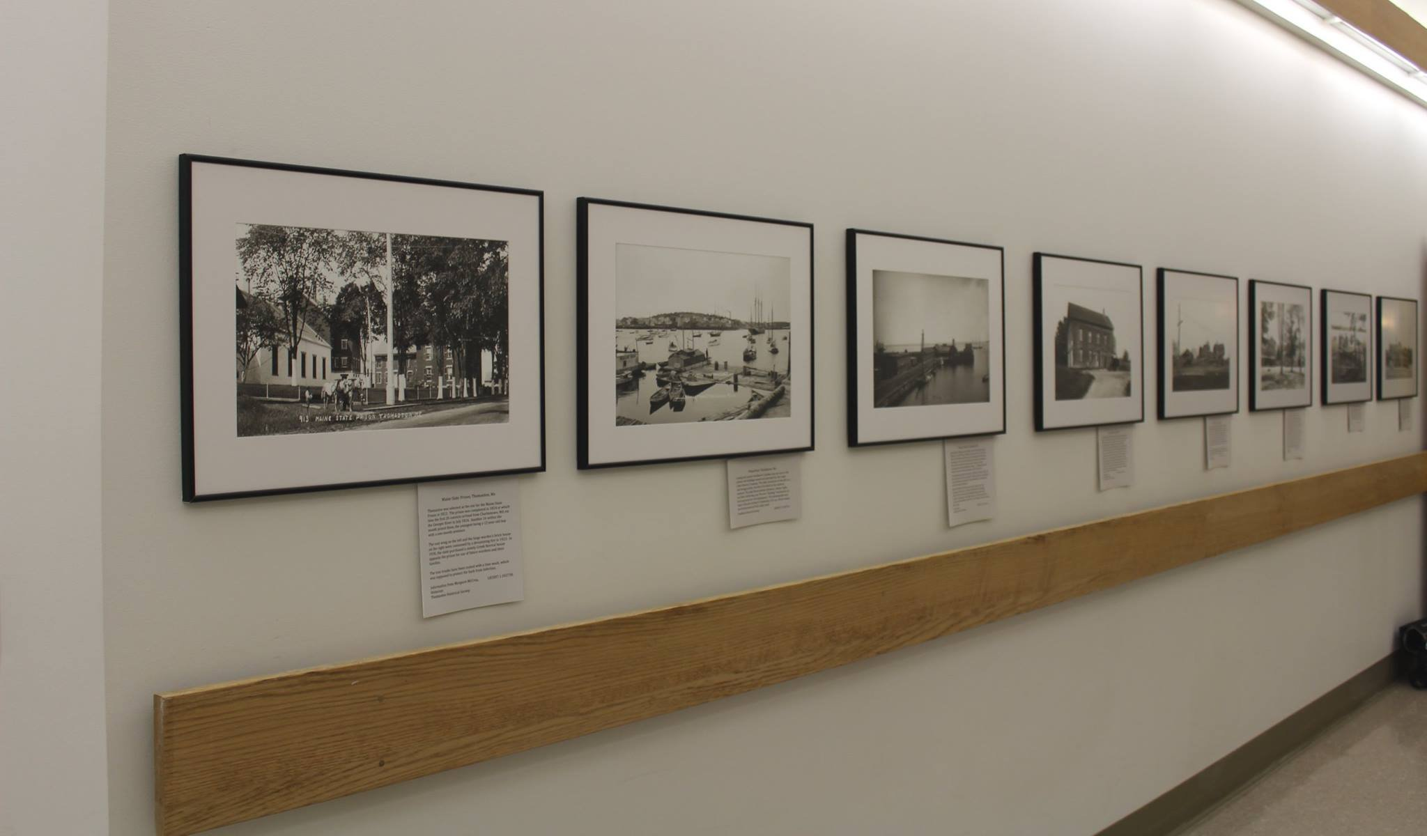 Photo display at the Penobscot Marine Museum