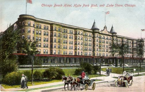 Now home to condominiums, this was the location of the Chicago Beach Hotel which was built in 1892.
