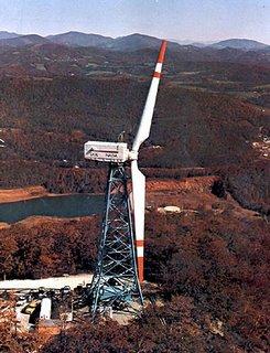 Experimental wind turbine on Howard Knob, 1978-1983