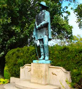 The statue was erected by the Ohio State Archeological and Historical society in 1931.