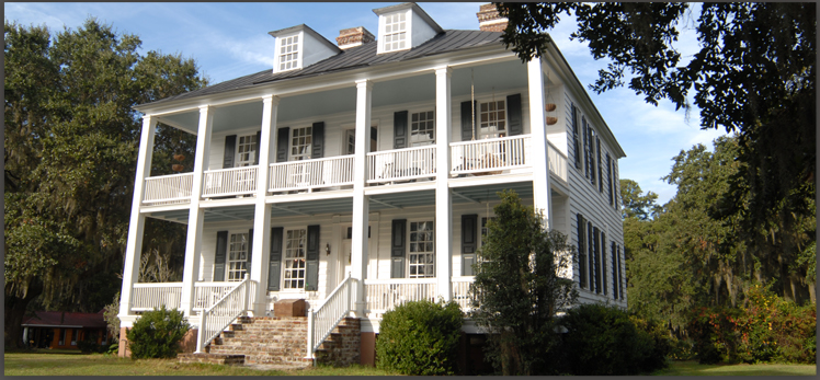 This is the Hopsewee Plantation house. This picture was taken directly from the official website.