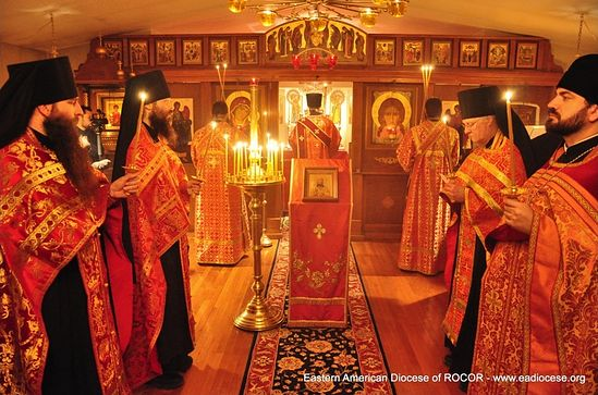 A service at the monastery