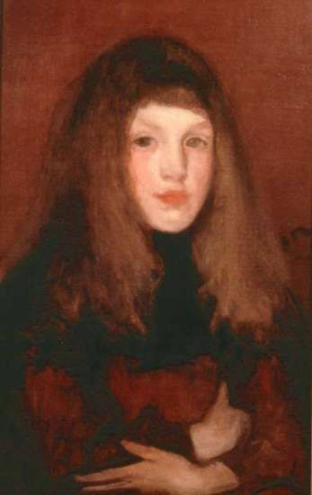 "Whistler's ""A Study in Rose and Brown"" ca.1895"