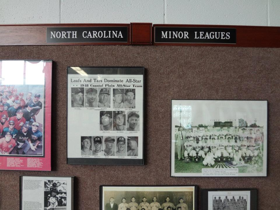 North Carolina Minor League Display